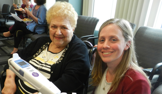 Mount St. Mary's Hospital in Lewiston has acquired the latest vein visualization technology to assist in the placement of IVs and blood draws courtesy of a donation by area resident Catherine DiMino.
