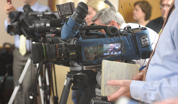 The Office of Communications works with local media to convey the news about what is happening in the Diocese of Buffalo. (File Photo)