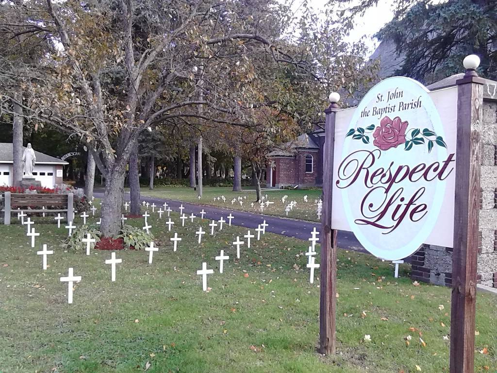 Cemetery of the Innocents at St. John the Baptist Parish, Alden. (Courtesy of St. John the Baptist Church)
