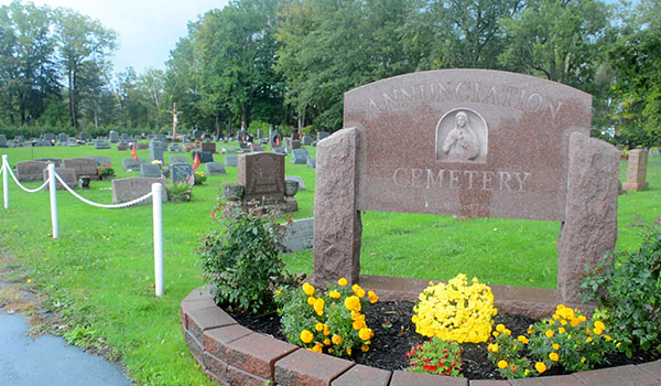 The 112-year-old historic cemetery at Church of the Annunciation has begun expansion. Located directly behind the old cemetery on Girdle Road in Elma, the expansion will increase the available space for traditional burial and the internment of cremains. (Patrick McPartland/Managing Editor)