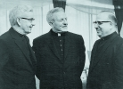 Auxiliary Bishop Bernard McLaughlin, Bishop James McNulty, and Auxiliary Bishop Benincassa.