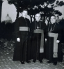 Bishop McLaughlin (center) with Bishop Pius Benincasa (right), and an unidentified priest outside the Vatican in Rome. Copyright Vatican