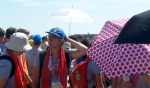 Umbrellas provide shade as well as a marker for Eucharist stations during the closing Mass of World Youth Day 2016 with Pope Francis on July 31. (Patrick J. Buechi/Staff)